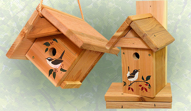 Red Cedar Bird Houses & Bird Feeders